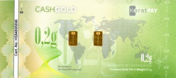 CashGold 0,2g Rub