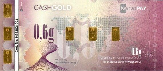 CashGold 0,6g Rub